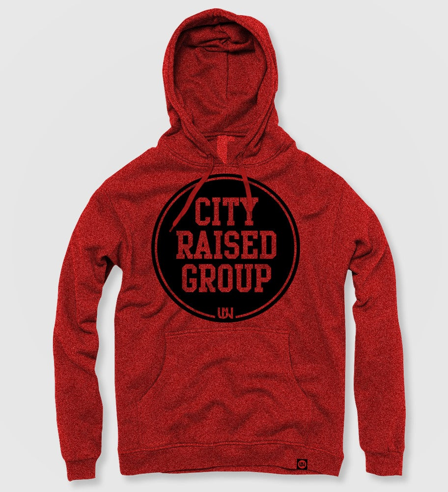 Image of City Raised Group Hoodie (Red)