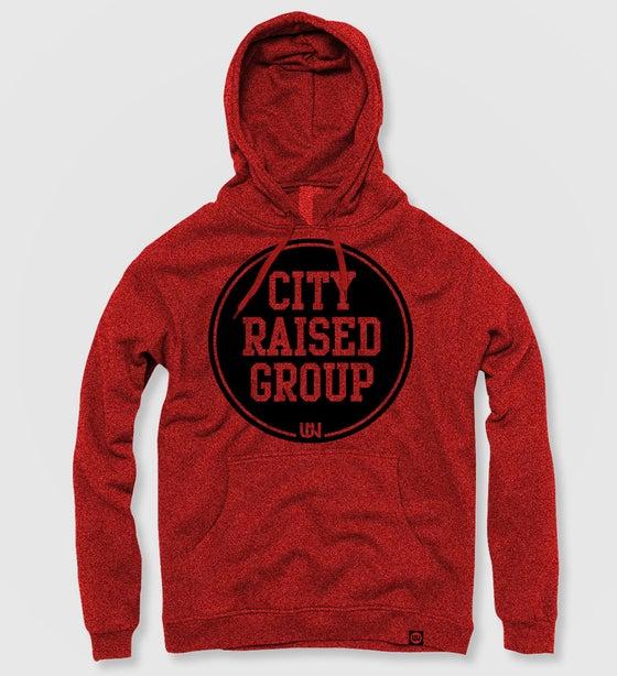 Image of City Raised Group Hoodie (Red)