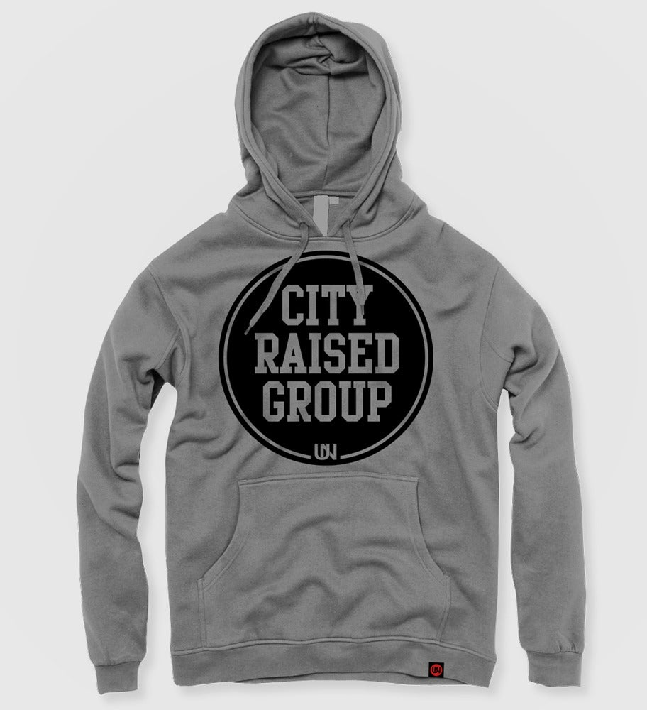 Image of City Raised Group Hoodie (Grey)
