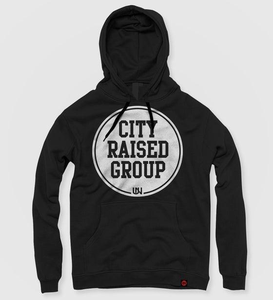 Image of City Raised Group Hoodie (Black)