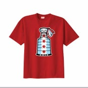 Image of CHICAGO FLAG - STANLEY CUP CHAMPION STYLE (RED or BLACK)