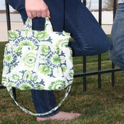 Image of Oh Betsy BAG - Navy/Emerald