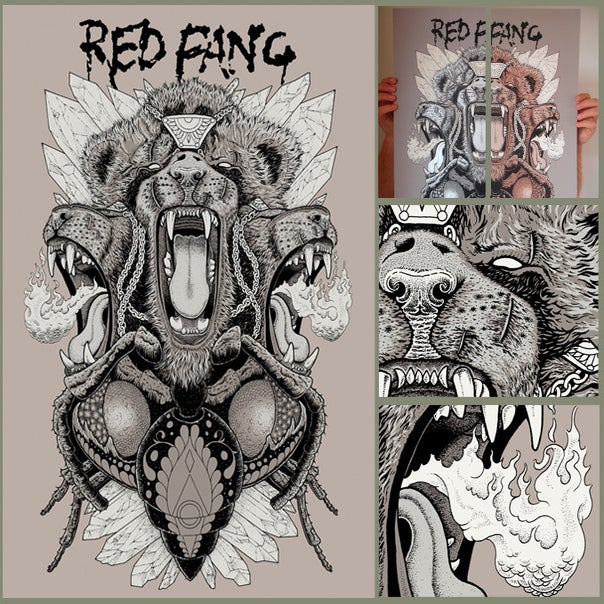 Image of Red Fang - Screen Print **Now with 15% off**