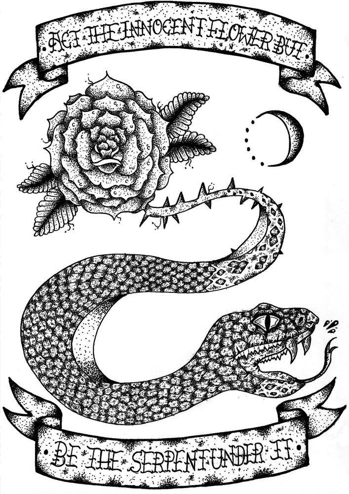 Image of 'Serpent under rose'