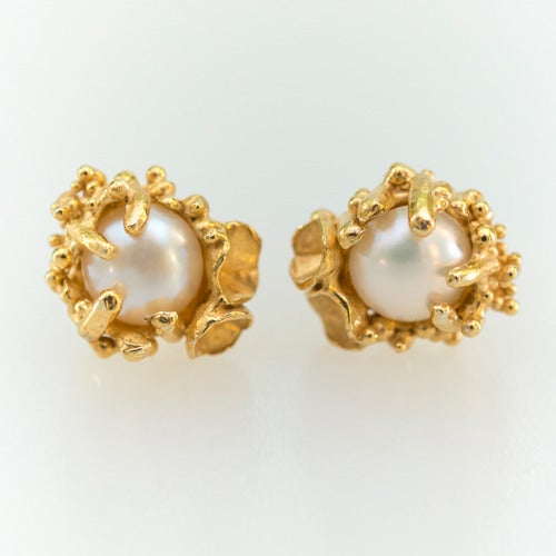 Image of Captured Pearl Studs