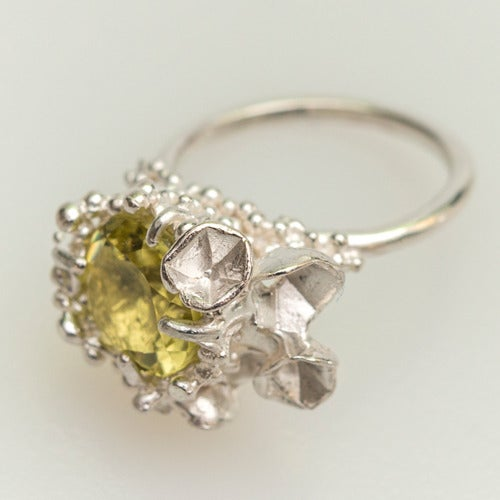 Image of Encrusted Blossom Ring