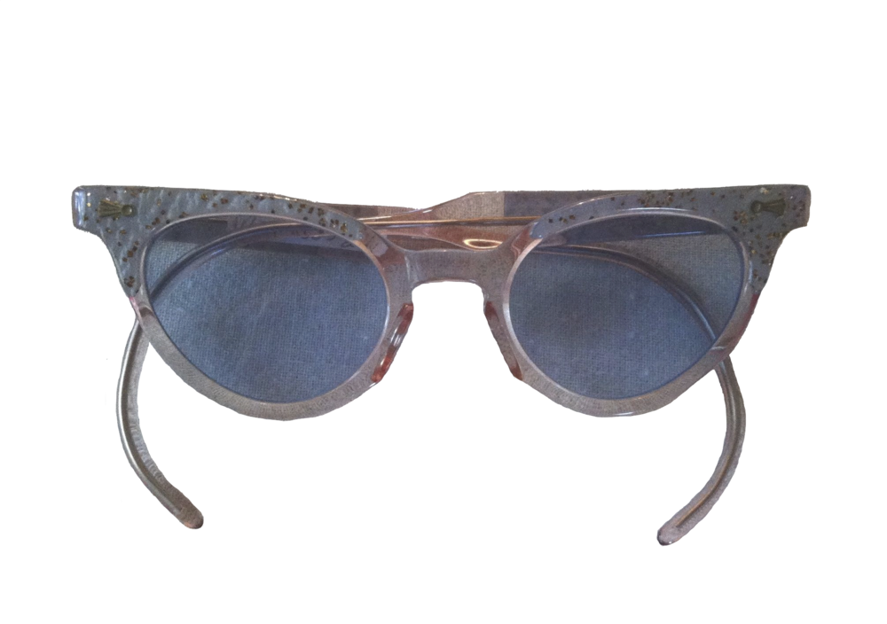 Image of Children's Sparkly Cat Eye Sunglasses (1950s)