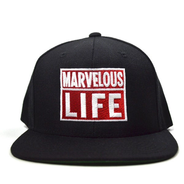 Image of Marvelous Life Black SNAPBACK
