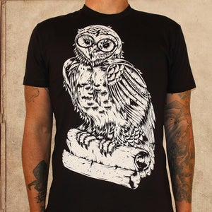 Image of Harry Potter Owl - discharge inks - unisex