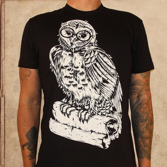 Image of Harry Potter Owl - discharge inks - unisex - final print XS/XL/2X left