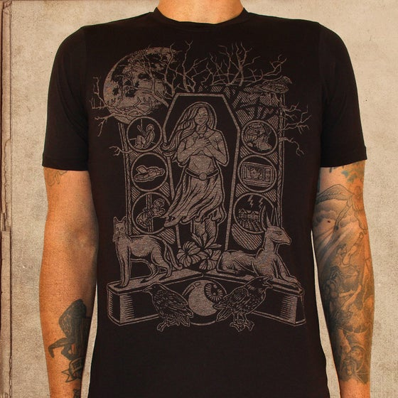Image of American Gods -discharge ink - 50/50 - unisex - restocked