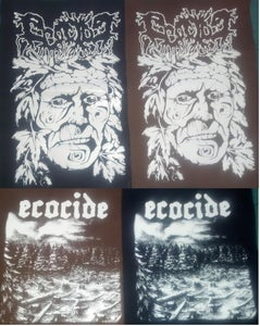 """Image of Ecocide """"Large Back Patch""""  (Brown or Black)"""