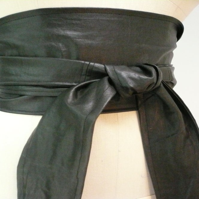 Image of Versatile Maria Severyna Black Twill Belt