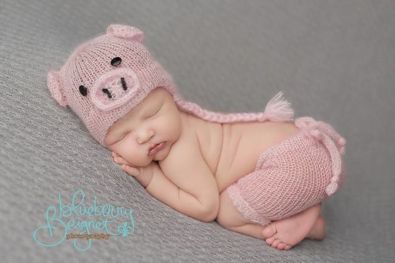 Image of Little Piggy Short/Hat Set