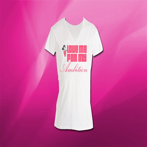 "Image of White Vneck  - ""Love Me For My Ambition"" Chaos T-Shirt"