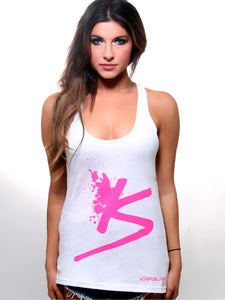 Image of Women's White Splatter Tank