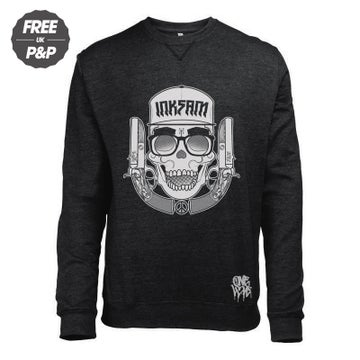 Image of DEAD GUNSLINGER - CREWNECK SWEATSHIRT - BLACK