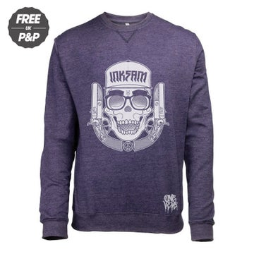 Image of DEAD GUNSLINGER - CREWNECK SWEATSHIRT - Purple