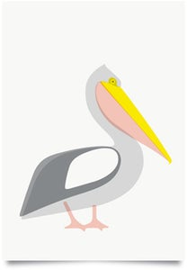 Image of Pelican Grey print
