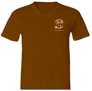 Image of Ladies Picasso's Place V-Neck T-Shirt in Brown