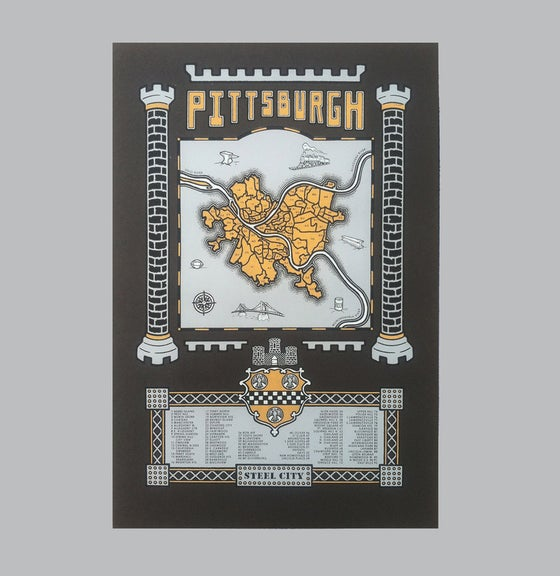 Image of pittsburgh map - bk