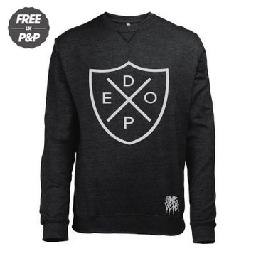 Image of DOPE SHIELD - CREWNECK SWEATSHIRT - BLACK