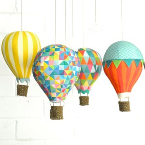 Image of Fabric Panel - Hot Air Balloon Mobile in Carnivale