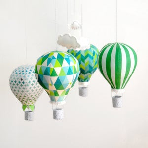 Image of Fabric Panel - Emerald City Hot Air Balloons