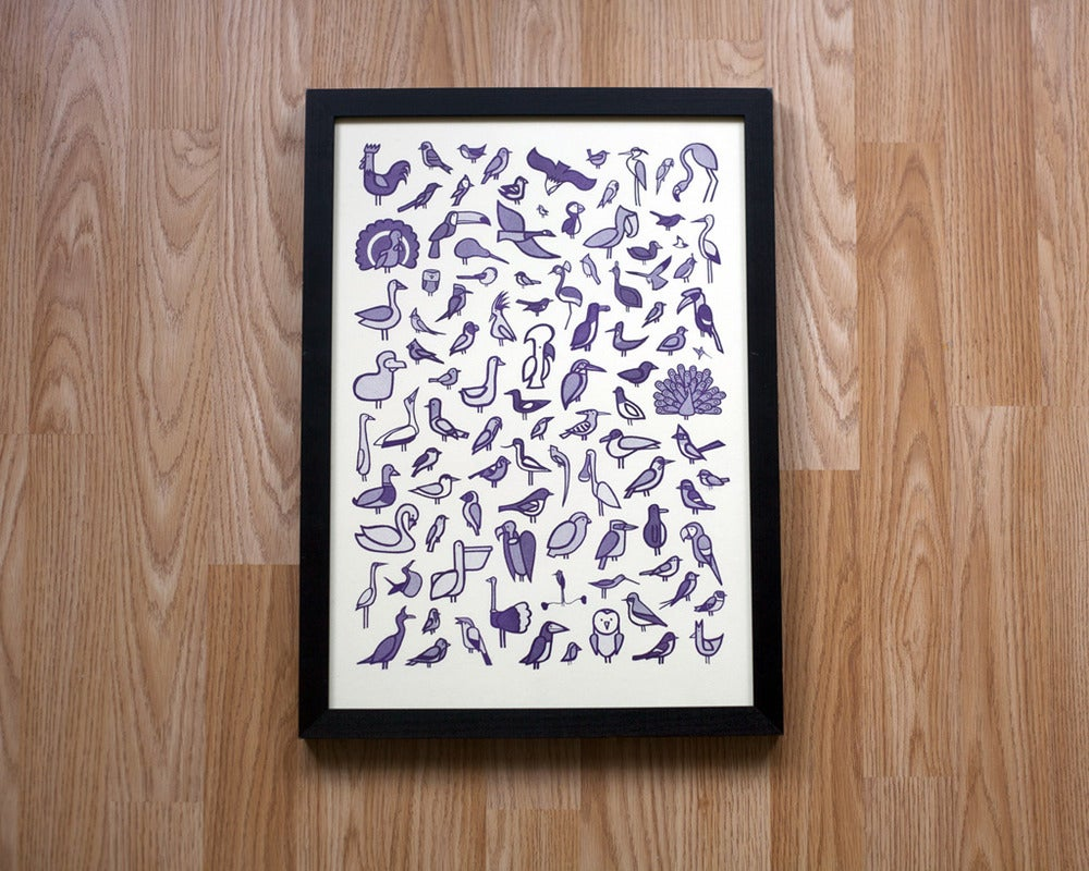 Image of 100 Birds Risograph