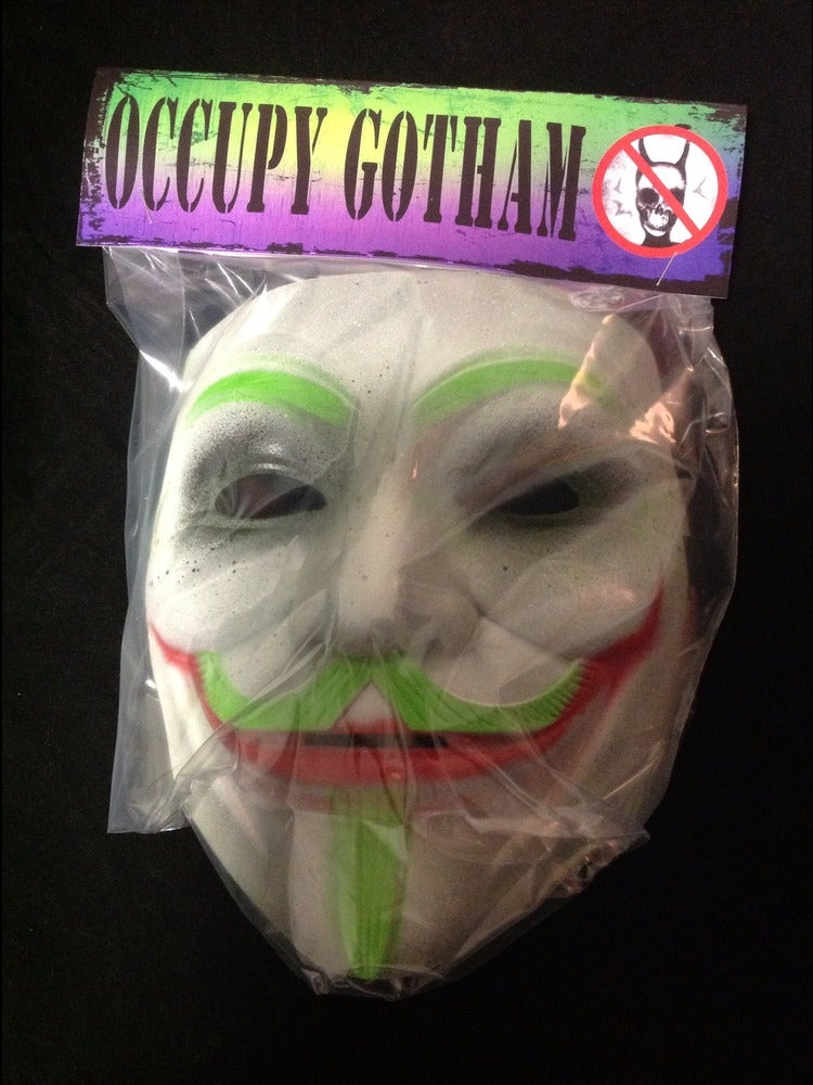 Image of Occupy Gotham custom Guy Fawkes x Joker Art Mask