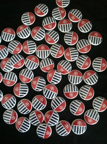 "Image of Aeronotiqz ""Aero-Flag"" Buttons #USA Colorway"