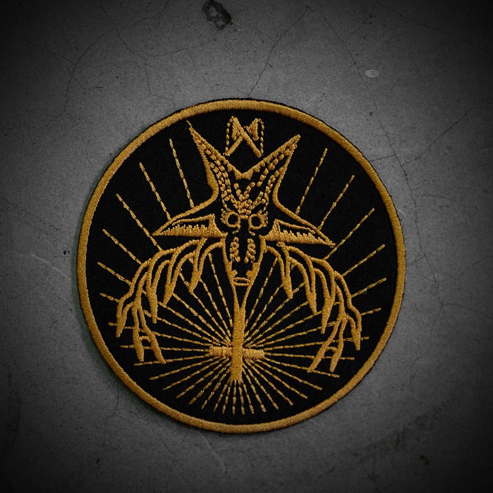 Image of EVIL MASTER PATCH - BLACK/YELOW