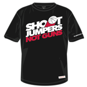 Image of Shoot Jumpers. Not Guns. x Mitchell & Ness (Black)