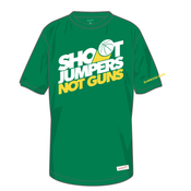 Image of Shoot Jumpers. Not Guns. x Mitchell & Ness (Green)