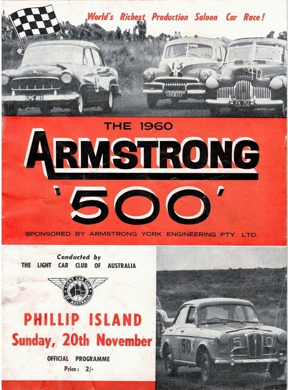 Image of 1960 Armstrong 500, Phillip Island Programme