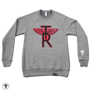 Image of ECO GREY TR Wings CREWNECK SWEATER (Unisex)