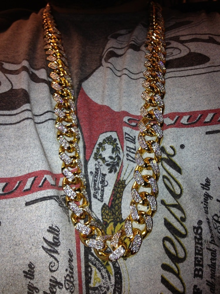 Image of 16mm Large Cuban link (chain only) Full set