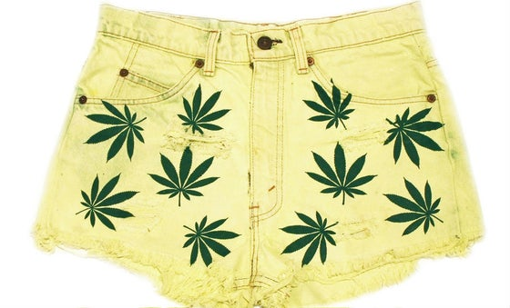 Image of D.Fame Trees Please Denim Shorts