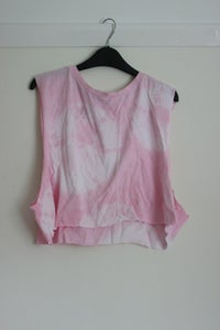 Image of Pink Tie Dye Crop Top