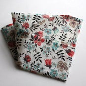 Image of spring flowers handkerchief