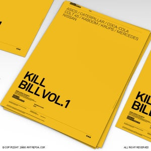 Image of Kill Bill Vol.1 Poster With Brands
