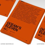 Image of Ocean's Eleven Poster With Brands