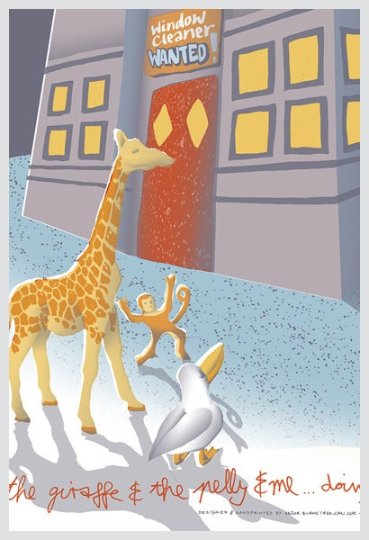 Image of THE GIRAFFE & THE PELLY & ME ...doing Chicago! (art print)