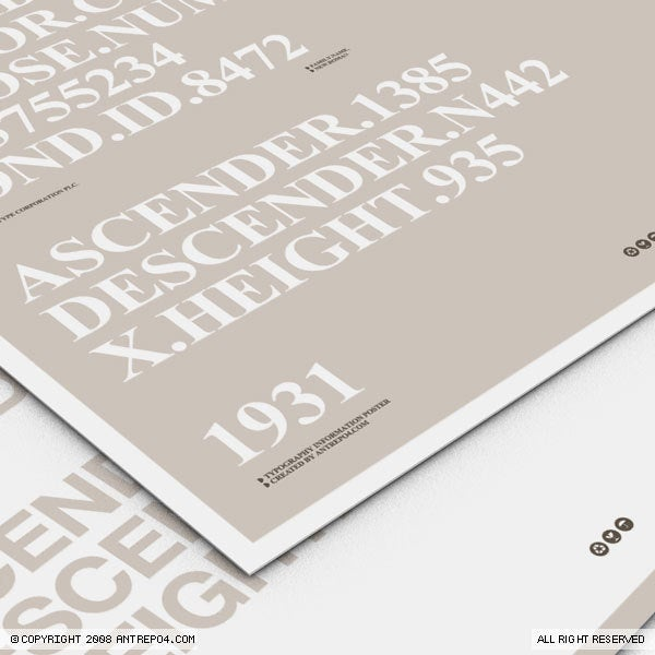 Image of Sans & Serif Poster set (2 posters)
