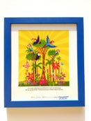 Image of NEW BLUE Framed 'Amazon Rainforest' Illustration