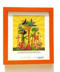 Image of NEW ORANGE Framed 'Amazon Rainforest' Illustration