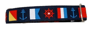 Image of Nautical Flags - Martingale Collar in the category  on Uncommon Paws.