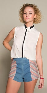 Image of Stripe High Waist Denim