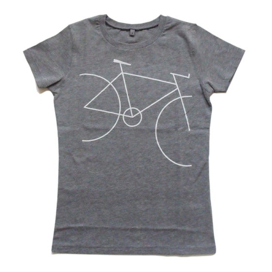 Image of women's bicycle cotton t-shirt