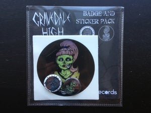 Image of Badge and Sticker Pack